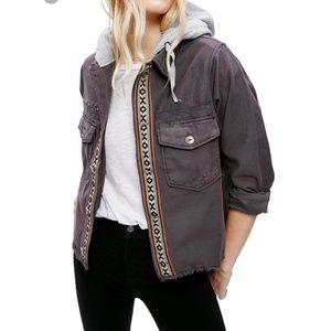 Free People Weekend Wanderer Hooded Jacket XS
